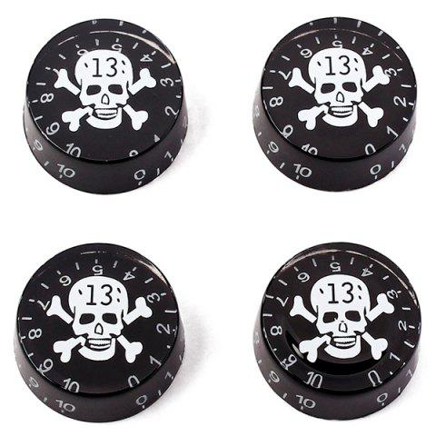 GD14 Large Round Creative Pattern Guitar Knob 4pcs - BLACK
