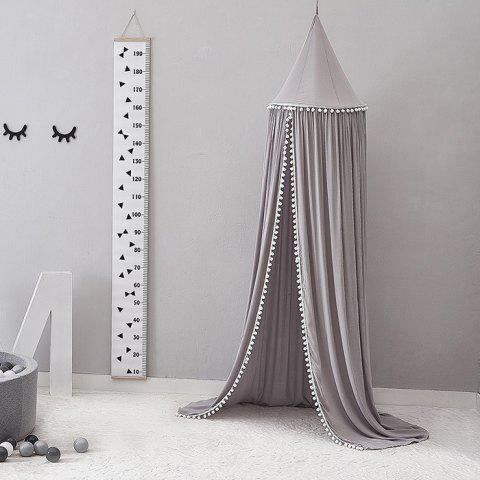 Children Room Decoration Dome Bed Cotton Mosquito Tent - LIGHT GRAY