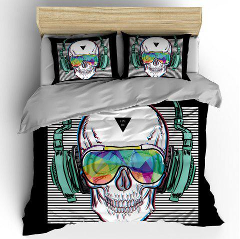 T42 3D Digital Printing Punk Music Bedding 3pcs / Set - BLACK QUEEN