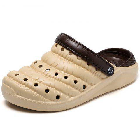 Simple Creative Caterpillar Men's Slipper - CREAM EU 43