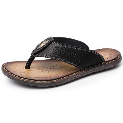Men Fashion Versatile Lightweight Slippers - BLACK EU 38