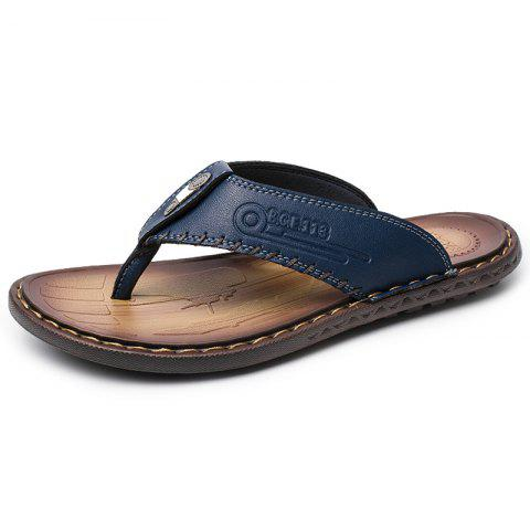Men Fashion Versatile Lightweight Slippers - BLUE EU 46