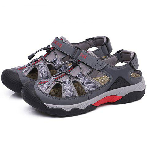 Men Outdoor Summer Sports Beach Sandals - GRAY EU 41