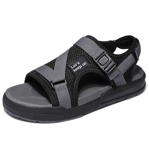 Breathable Large Size Summer Cool Fashion Beach Sandal - GRAY EU 40