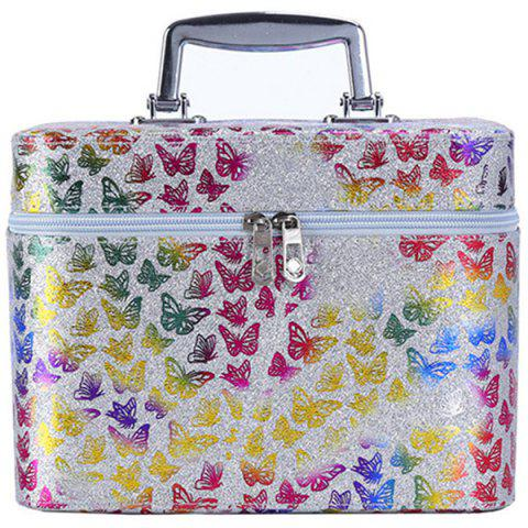 Simple Cute Girl Storage Box Product Cosmetic Case - SILVER