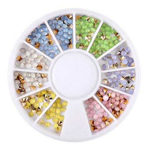 Nail Tip Drill Disk 12 Couleur Diamond - multicolor A