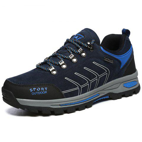 Men Leisure Breathable Outdoor Sports Hiking Shoes - DEEP BLUE EU 43