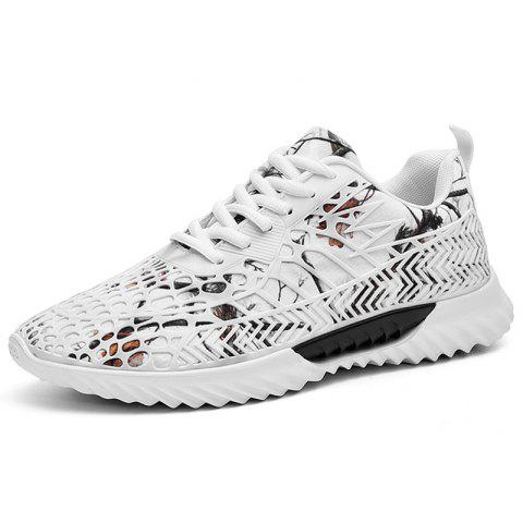 Breathable Casual Men Sneakers Sports Shoes - WHITE EU 45
