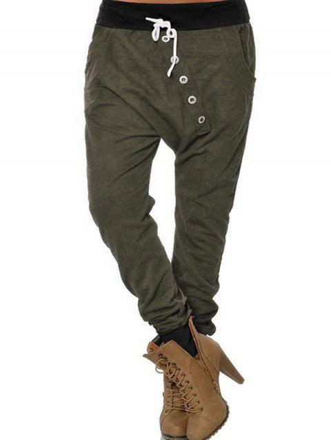 Stylish Comfortable Stretch Harem Pants - ARMY GREEN L