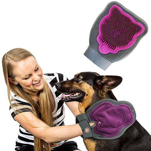 Pet Cleaning Double-sided Multi-function Gloves - DULL PURPLE
