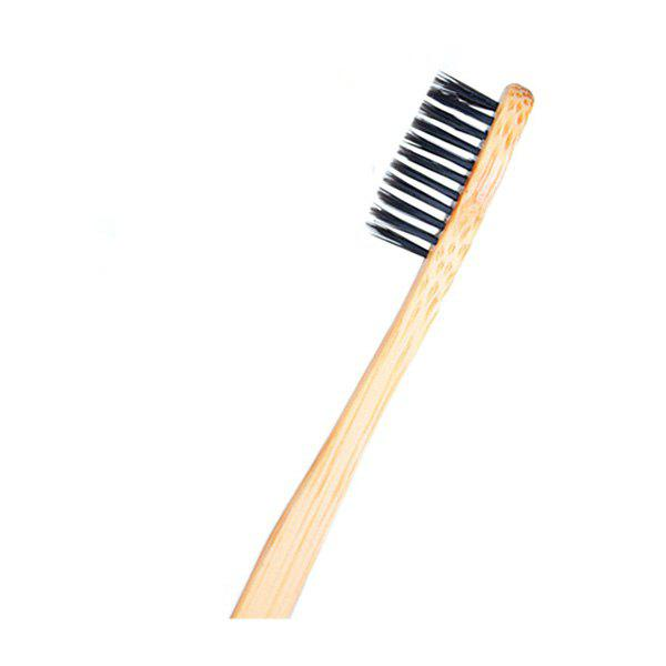Organic Eco-friendly Natural Bamboo Toothbrush with Soft Bristles - BLACK