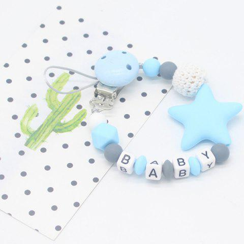 Baby Products Silicone Nipple Clip Teeth Rubber Pacifier Chain - LIGHT SKY BLUE