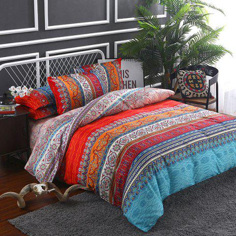 Dance Spring Wind Bed Product Active Printing Bedding Set - LAVA RED QUEEN SIZE