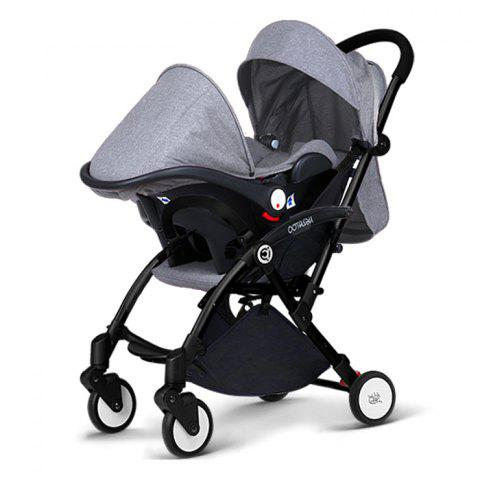 Multifunctional Foldable Stroller Safety Car Chair Cradle Basket - GRAY
