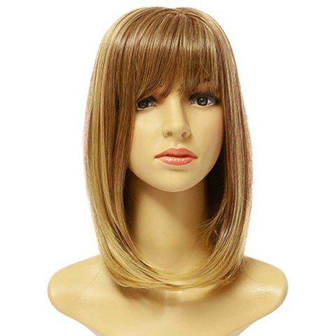 Female Fashion Pick Color Long Synthetic Wig - GOLD