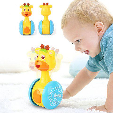 Tumbler Sliding Rattle 0 - 3 Years Old Baby Learning Climbing Toy ( English Version ) - GOLDENROD