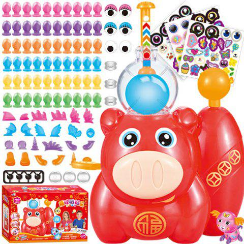 Bubble Sticky Handmade DIY Balloons Creative Handcraft Gift Toy - RED
