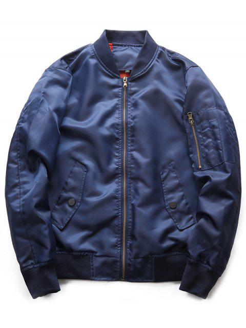 Fashion Sports Casual Stand Jacket - NAVY BLUE 5XL