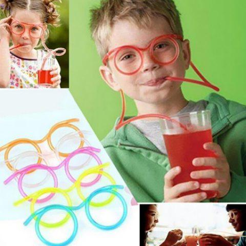 Funny Creative Lazy Drinking Glasses Straw - HOT PINK