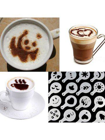 Pull Flower Mold Coffee Printing Model Thickening Milk Spray Template 16pcs