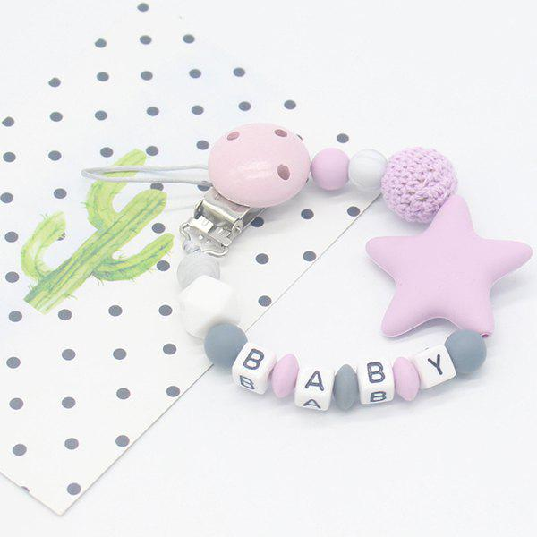 Baby Products Silicone Nipple Clip Teeth Rubber Pacifier Chain - MAUVE