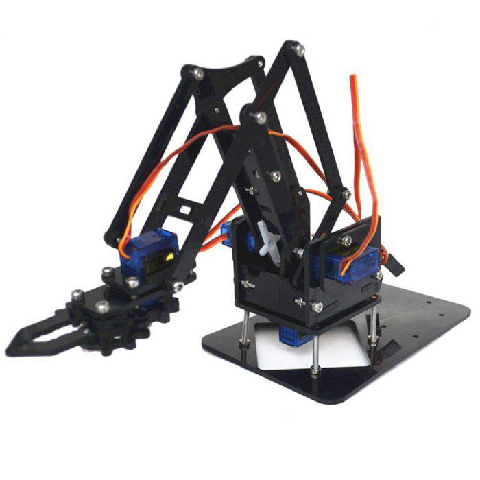 Kids Robot Arm Kit Educational DIY Assembled Robotic Claw Set without Servos and Motherboard - multicolor WITH SCREWS