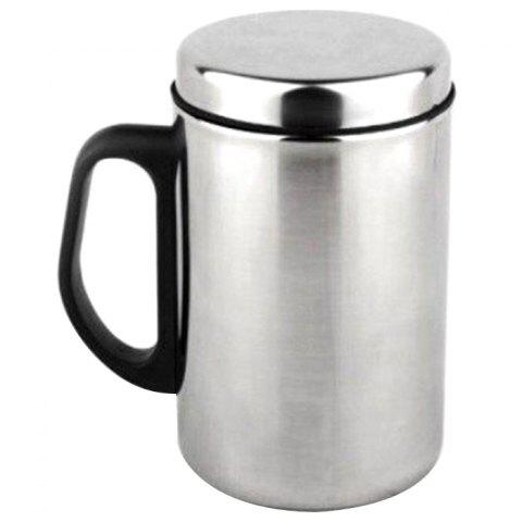 Double-layer Stainless Steel Thermos Cup - SILVER 500ML