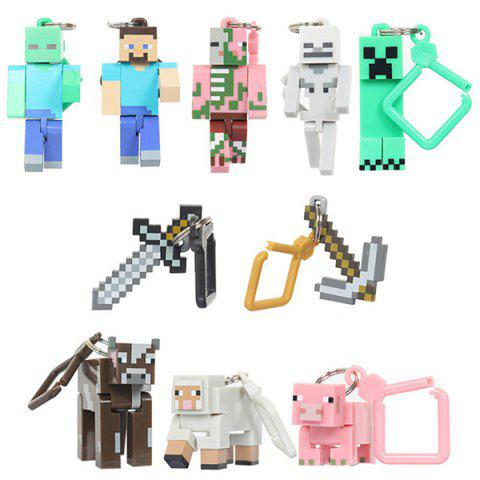 Game Doll Keychain 10pcs - multicolor A