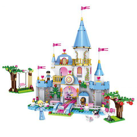Children's Educational Princess Castle Assembled Blocks - multicolor A
