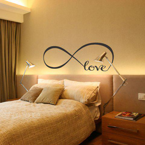 8274S Loop Love Home Decoration Removable Wall Sticker - multicolor A