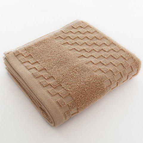 Solid Color Jacquard Adult Face Towel - CAMEL BROWN