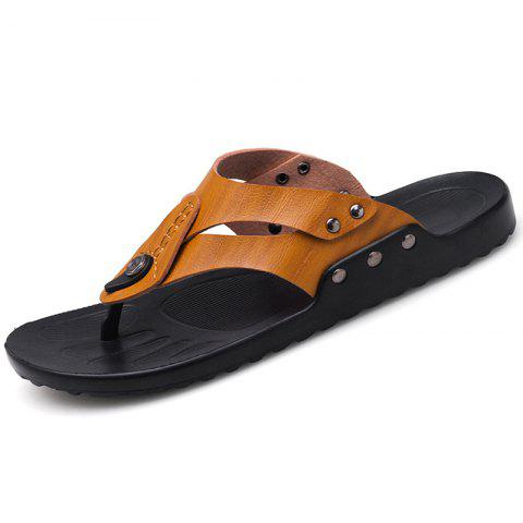 Men's Personality Beach Slippers - BROWN EU 43