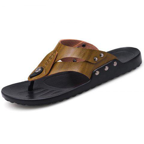 Men's Personality Beach Slippers - DARK KHAKI EU 44