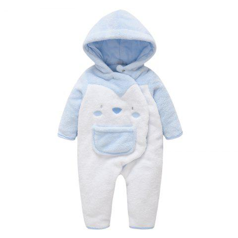 Male Baby Jumpsuit - POWDER BLUE 0-1M
