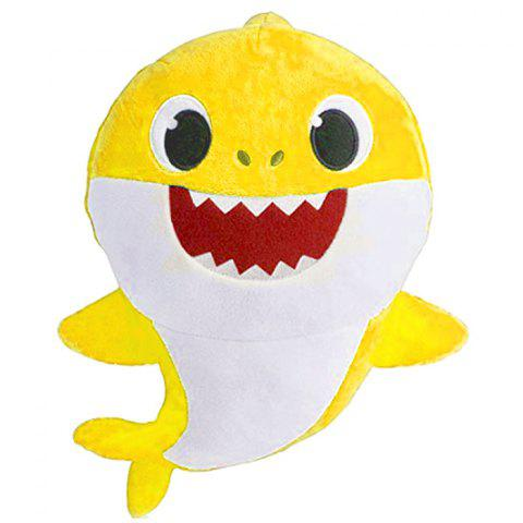 Cute Shark Baby Plush Toy - YELLOW