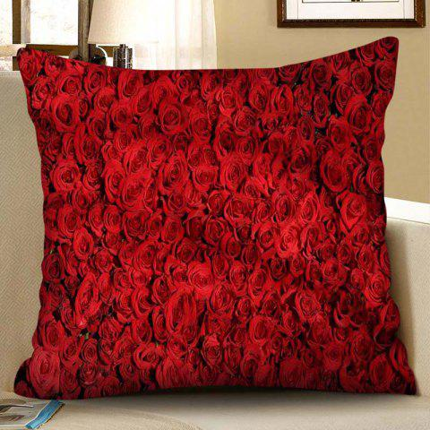 Square Valentine Day Digital Printed Pillow Case - RED