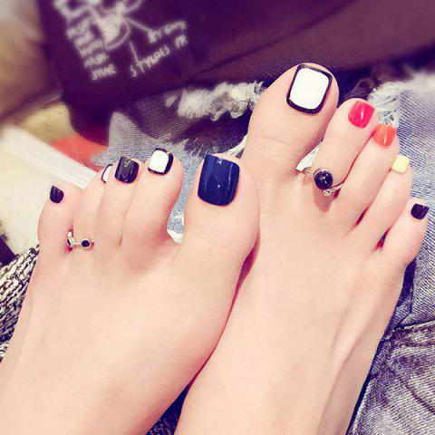 Toenails False Nail Patches 24pcs - NAVY BLUE