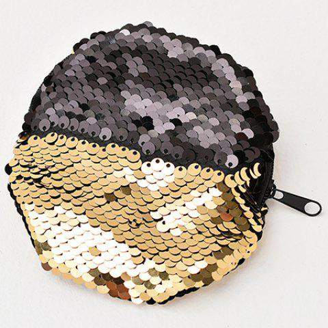 Creative Storage Bag Sequins Coin Cosmetic Storage Bag  Fashion Simple Purse - GOLD