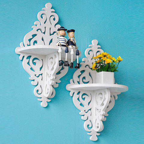 Nordic Style Double Wall Hanging Storage Rack - WHITE