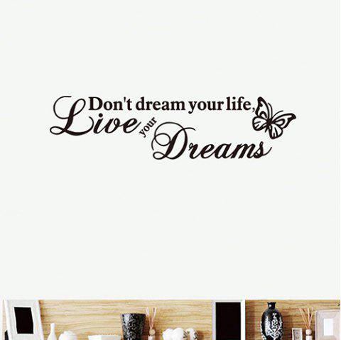 DX015 Bedroom Living Room Removable Wall Sticker - BLACK