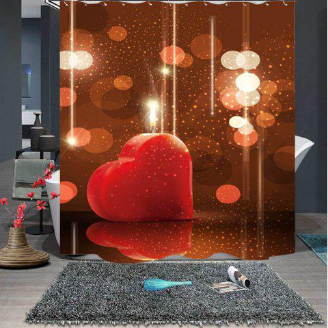 Valentine  's Day Beautiful Waterproof Boutique Rideau - Châtaigne Rouge W71 X L71 INCH