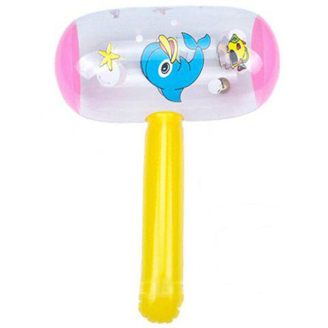 Cartoon with Whistle Soft Handle Inflatable Hammer - multicolor A