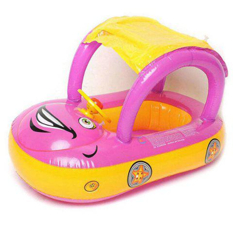 Children's Inflatable Car Model Swimming Toys - HOT PINK