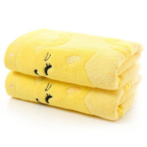 Kitten Print Child's Towel - YELLOW