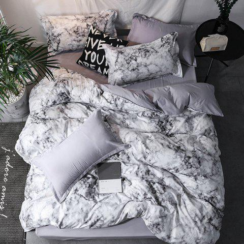 Individualized Abstract Ink Simple Stone Pattern Bedding Set - PLATINUM QUEEN SIZE