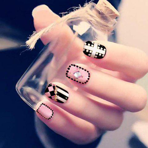 Fashion Craft 3D False Nail Patch 24pcs - multicolor