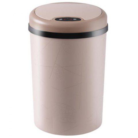 Intelligent Sensor Trash Can with Cover - TAN SMALL