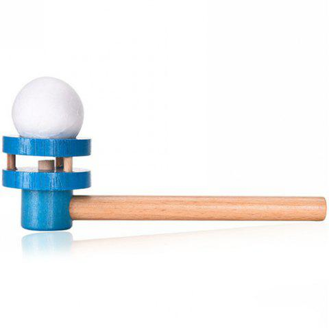 Early Childhood Education Traditional Wooden Blowing Ball Toy - SKY BLUE