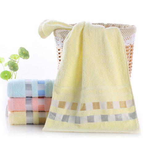 Square Plaid Cotton Daily Absorbent Towel - CREAM