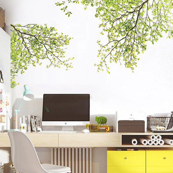 Image of 070 Green Tree Leaves Wall Sticker